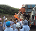 Children find out where the recycling goes.