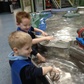 Children explore the force of water