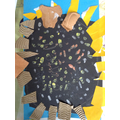 A child's crafted artwork of a sunflower.