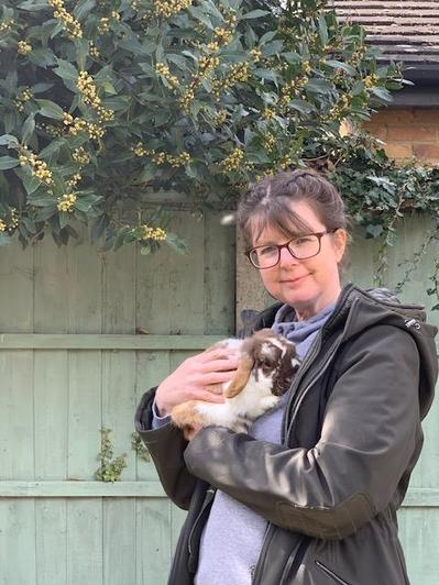 Head of EY Mrs Di-Folco with Theo,1 yr old Lop