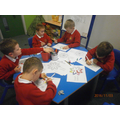 We coloured in Rangoli patterns.