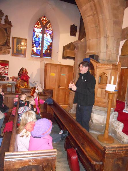 Reverend Mike told us the church was very old.