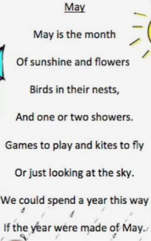 We can recite this poem.