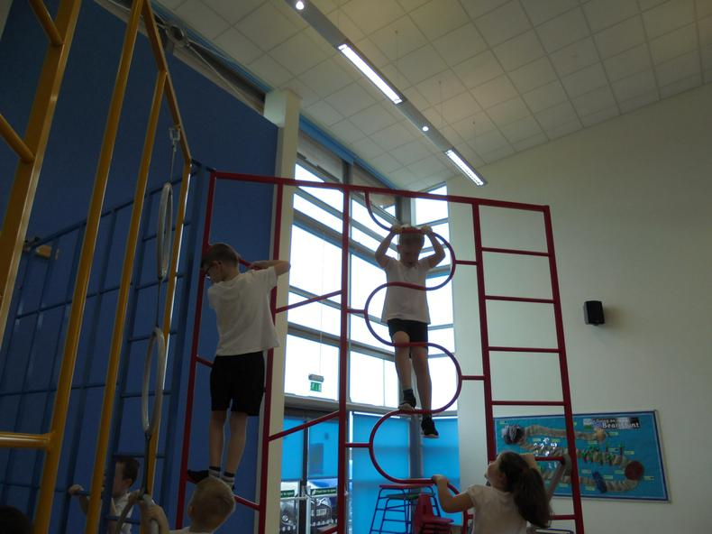 We have had lots of fun using the apparatus in P.E