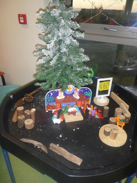 We are learning about the first Christmas.