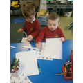 We had a go at writing our names in Chinese.