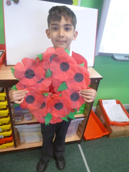We had a Zoom assembly. We shared our poppy wreaths and thought about the brave soldiers.