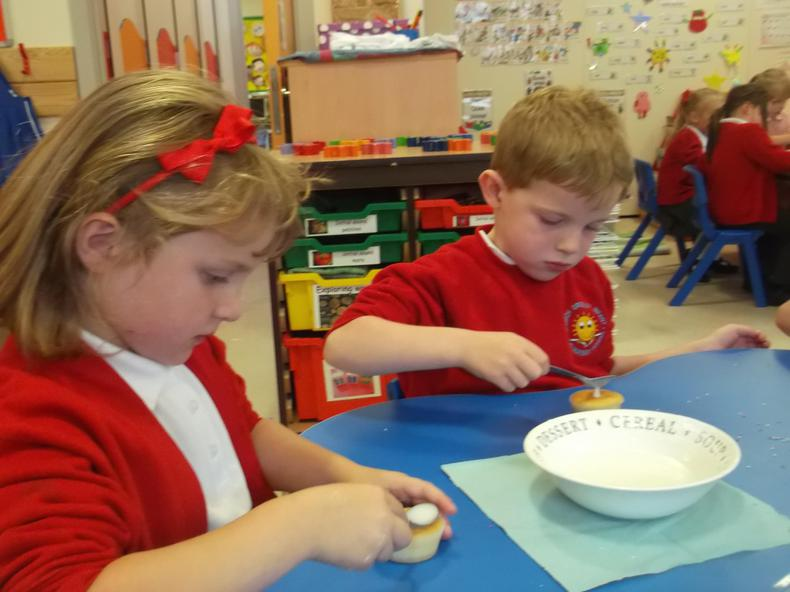 Making cakes for our Macmillan coffee morning.