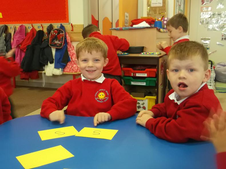 This week we've been learning to blend sounds.