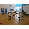 Fun in PE with our special coaches