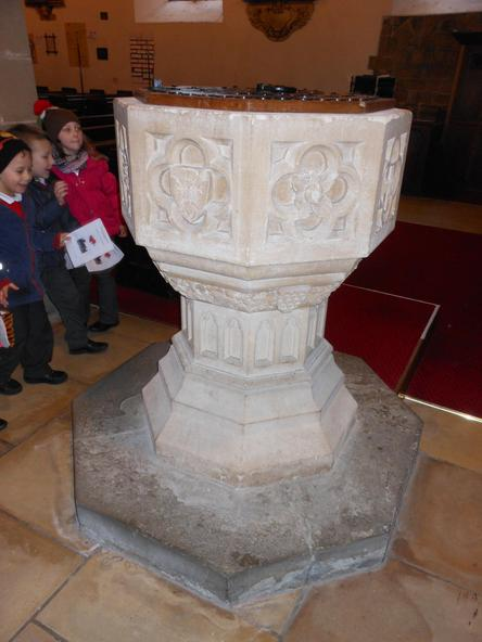 The font is where people are christened.