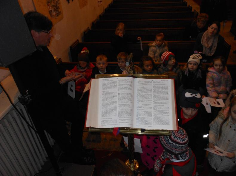 People read the Bible from the lectern in Church.