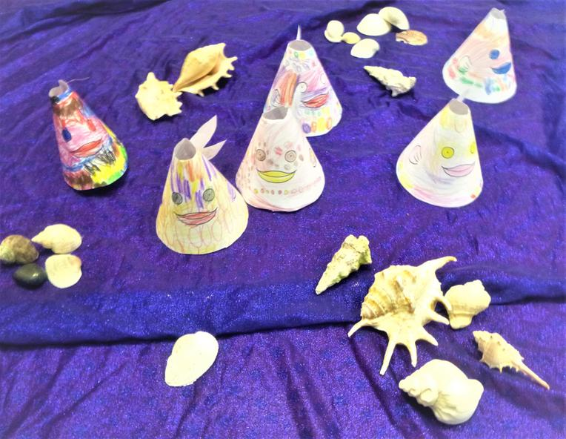 We made cone fish.
