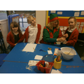 Santa's elf helped us to make reindeer food.