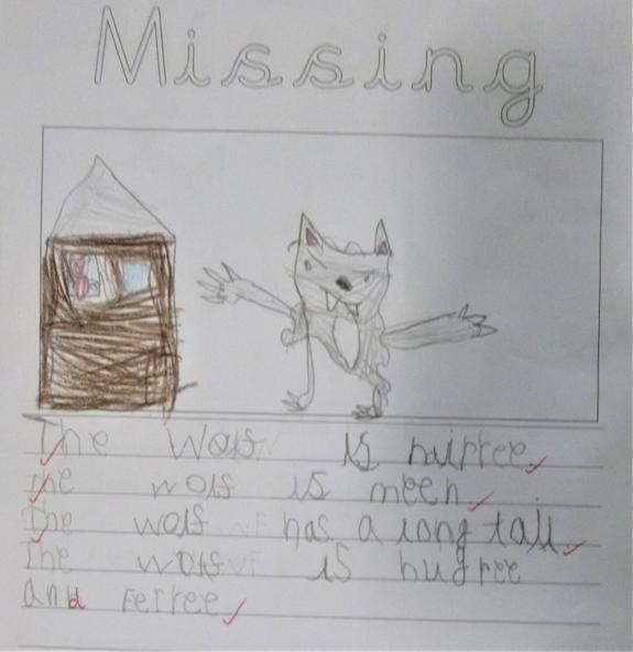 The Three Little Pigs asked us to help them find the wolf!
