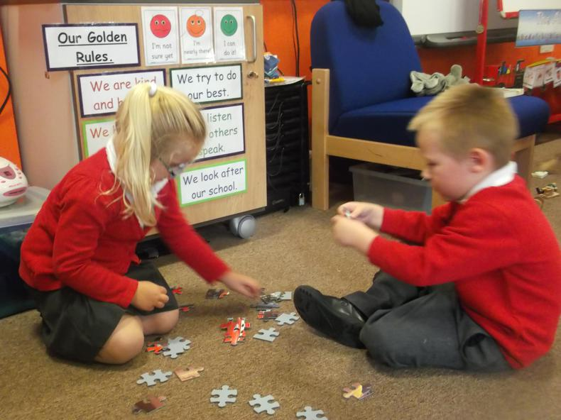 We have been sharing and taking turns.
