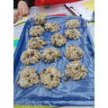 Here are our bird cookies!