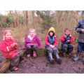 The children enjoyed campfire cooking together.