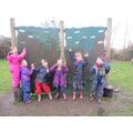 The children had great fun with the mud today!