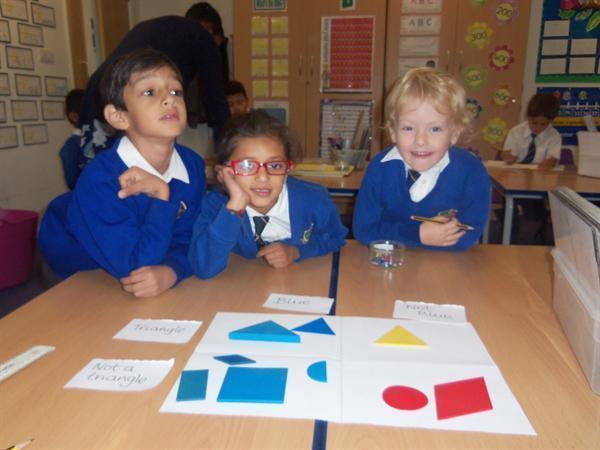 Look at us sorting shapes