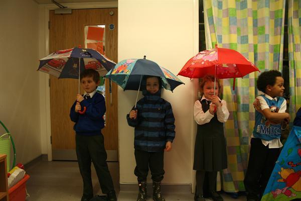 Rainy weather means umbrellas!