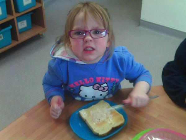 We made beans on toast and it was yummy!!!