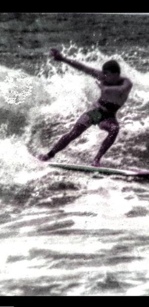 Mr Pearse enjoying the surf