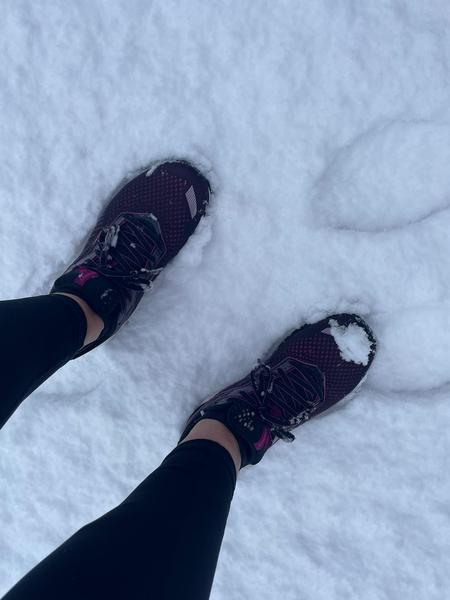 Mrs Bexx running whatever the weather.