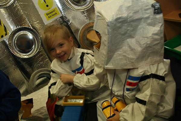 Putting on space suits