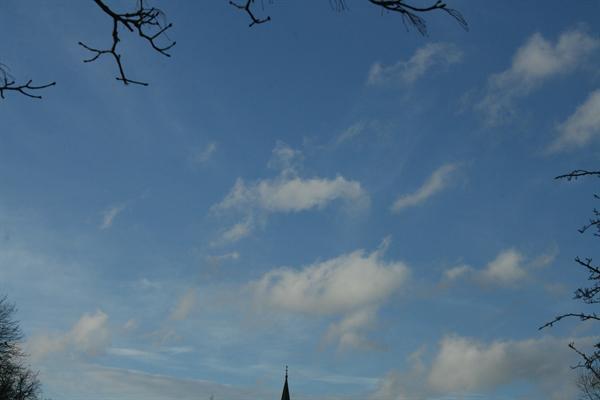 Some clouds in a blue sky!