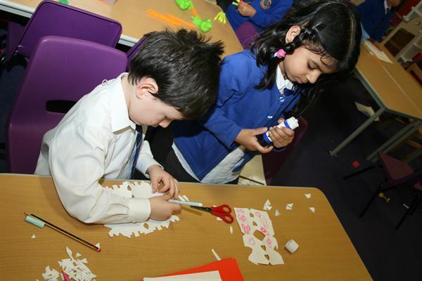 Making Diwali cards