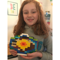 Lego model of the Earth's layers