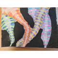 Colourful tornado artwork