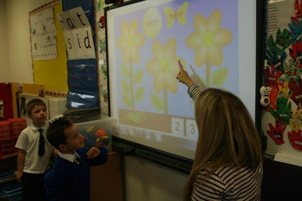 Using the smartboard for number work