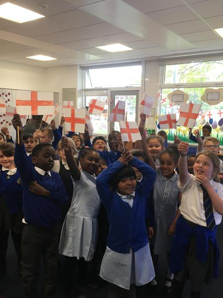 My patriotic bunch celebrating Saint George's Day