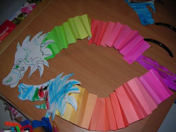 colourful paper dragons
