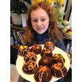 Volcano cupcakes!