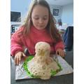 Salt dough volcano exploding!