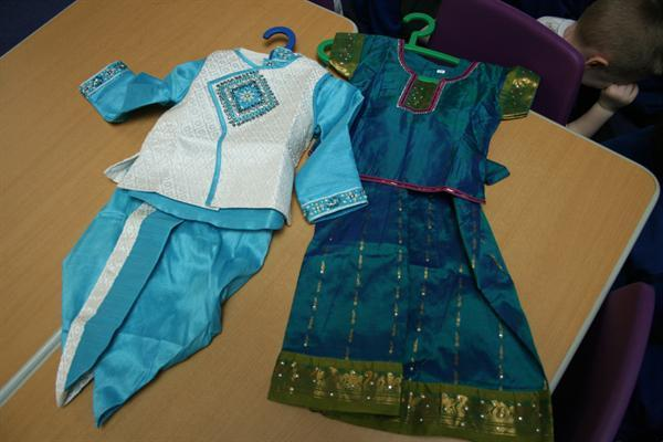 Neha's brother's and sister's Diwali clothes