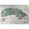 Kensuke's Cave drawing