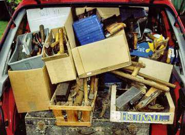 Tools donated ready for sorting and improvement