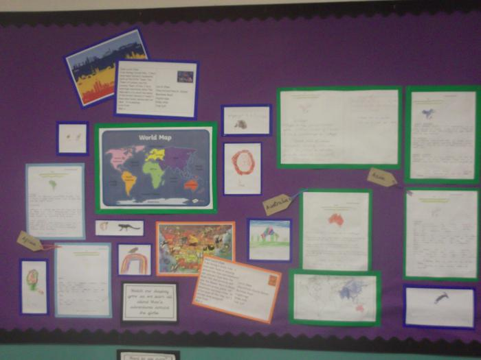 We've been learning all about continents.