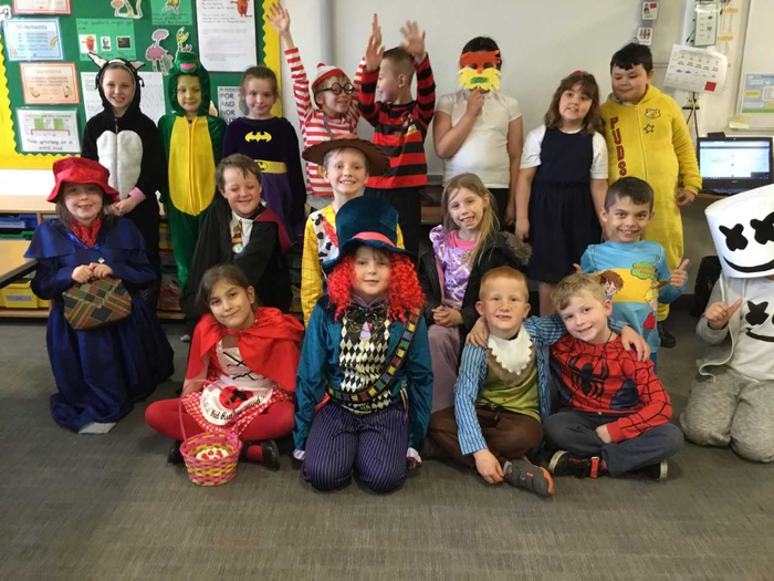 We all dressed up as our favourite book characters