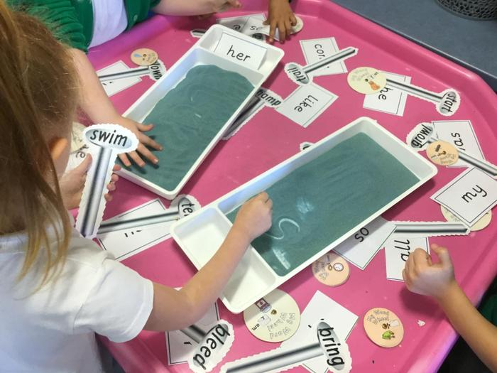Funky fingers task: writing in the sand!