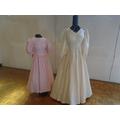 Wedding dress exhibition in Church.