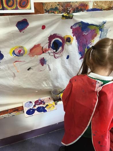 Kandinsky Circle Painting