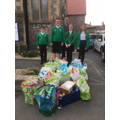 Rev. Dan and the Senior Pupils at the FoodBank.