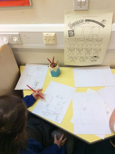 Following a tutorial to draw Hamster from our story