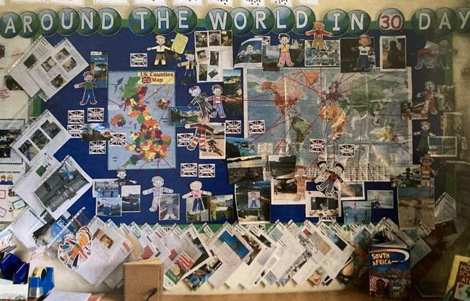 Y2 Flat Stanley project involving friends and family around the world