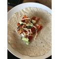 The finished dish - Chloe's chicken fajitas